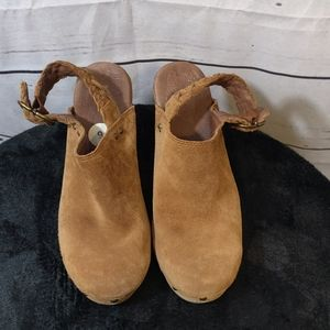 Uggs Brown Fully Lined Mules